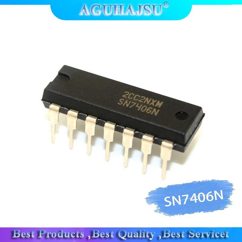 5PCS /10PCS SN7406N DM7406N HD7406P SN7406 7406P 7406N 7406 Brand new original authentic Inline DIP14(China)