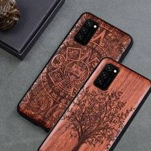 Mới Cho Huawei Honor V30 Ốp Lưng Mỏng Nắp Lưng Gỗ Nhựa TPU Ốp Lưng Trên Huawei Honor V30 Pro Xem 30 pro Ốp Điện Thoại