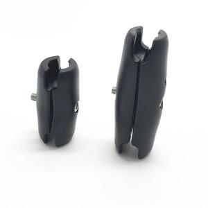 Image 2 - Vida anahtarı tipi 6.5 veya 9.5cm çift soket kolu 1 inç top tabanları için Gopro Garmin GPS için