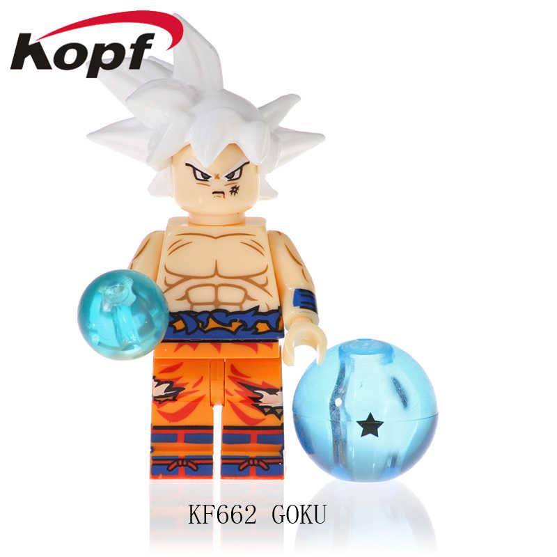 Buiding Blocos Figuras de Dragon Ball Z Majin Buu Gotenks Goku Broli Tijolos Ação Bonecas de Aprendizagem Para As Crianças Brinquedos de Presente KF662