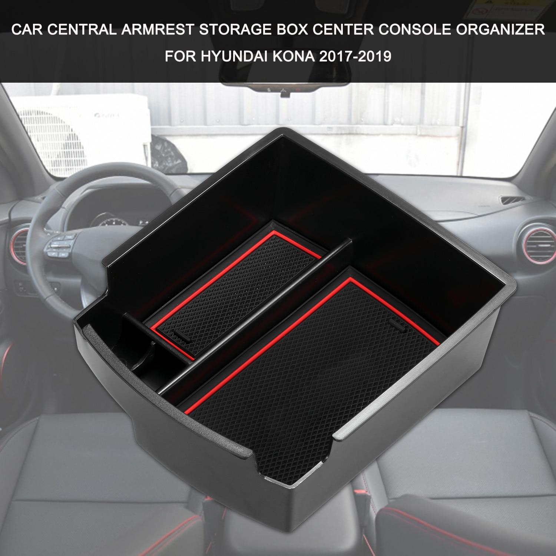 Центральный автомобильный подлокотник для хранения коробка центральная консоль Органайзер центральная консоль лоток замена для Hyundai Kona 2017 2019|Все для уборки|   | АлиЭкспресс