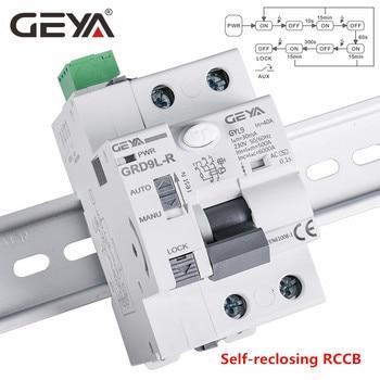 GEYA disyuntor automático GRD9L-R RCCB, dispositivo de auto pérdida 2P 40A 30mA 100mA 300mA RCD, interruptor inteligente auto rearmable 2
