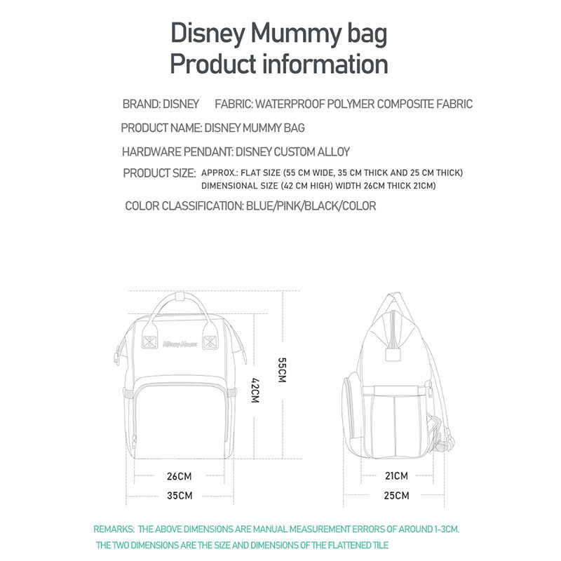 Сумка для подгузников disney, рюкзак для мамы, USB бутылочка с подогревом, Детская сумка для мамы, сумка для подгузников, мокрая сумка, Микки Маус, отправка крючка