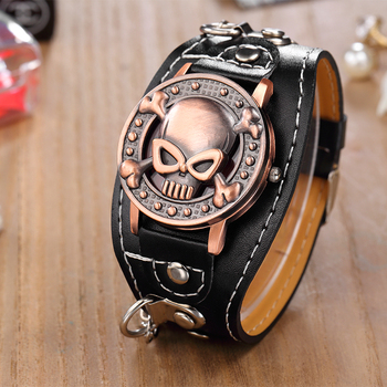 Fashion Steampunk Watches Men Skull Watches O.T.Sea Clamshell Dial Quartz Wristwatches Men Erkek kol saati relogio masculino fashion caual men watches black stainless steel quartz wristwatches men luxury watches erkek kol saati horloge man montres homme