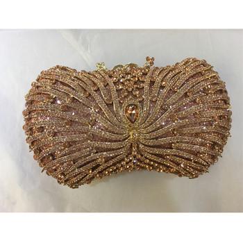 Luksusowe torebki damskie torebki projektant Rhinestone torby na przyjęcie weselne torby wieczorowe torebka z uchwytem ślubne pudełko ślubne kopertówki tanie i dobre opinie INWARDNESS Minaudiere Torebki wieczorowe Metalowe Hasp HARD NONE Sukienka Skóra syntetyczna Party WOMEN Hollow out Pojedyncze