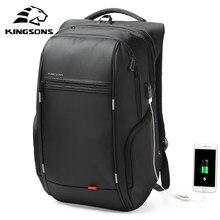 Kingsons mochila masculina antirroubo, mochila masculina de 13 ''15'' e 17 ''para laptop viagem masculina moda