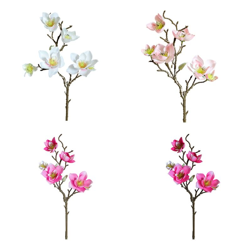 Искусственная Магнолия цветы искусственный цветок для Свадебная вечеринка сад дома стол офисный украшения
