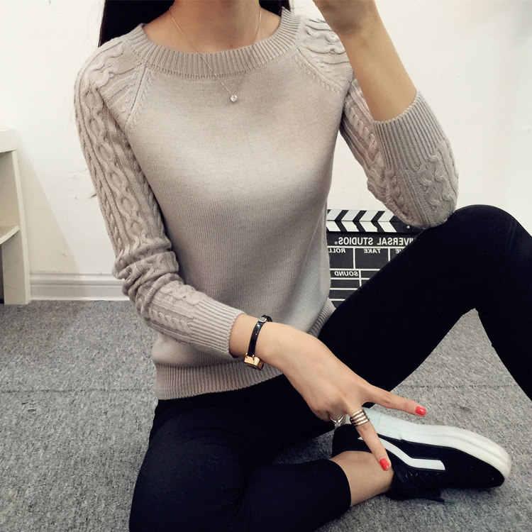 저렴한 도매 2018 봄 가을 겨울 뜨거운 판매 여성 패션 캐주얼 따뜻한 좋은 스웨터 여성 숙녀 섹시한 기본 스웨터