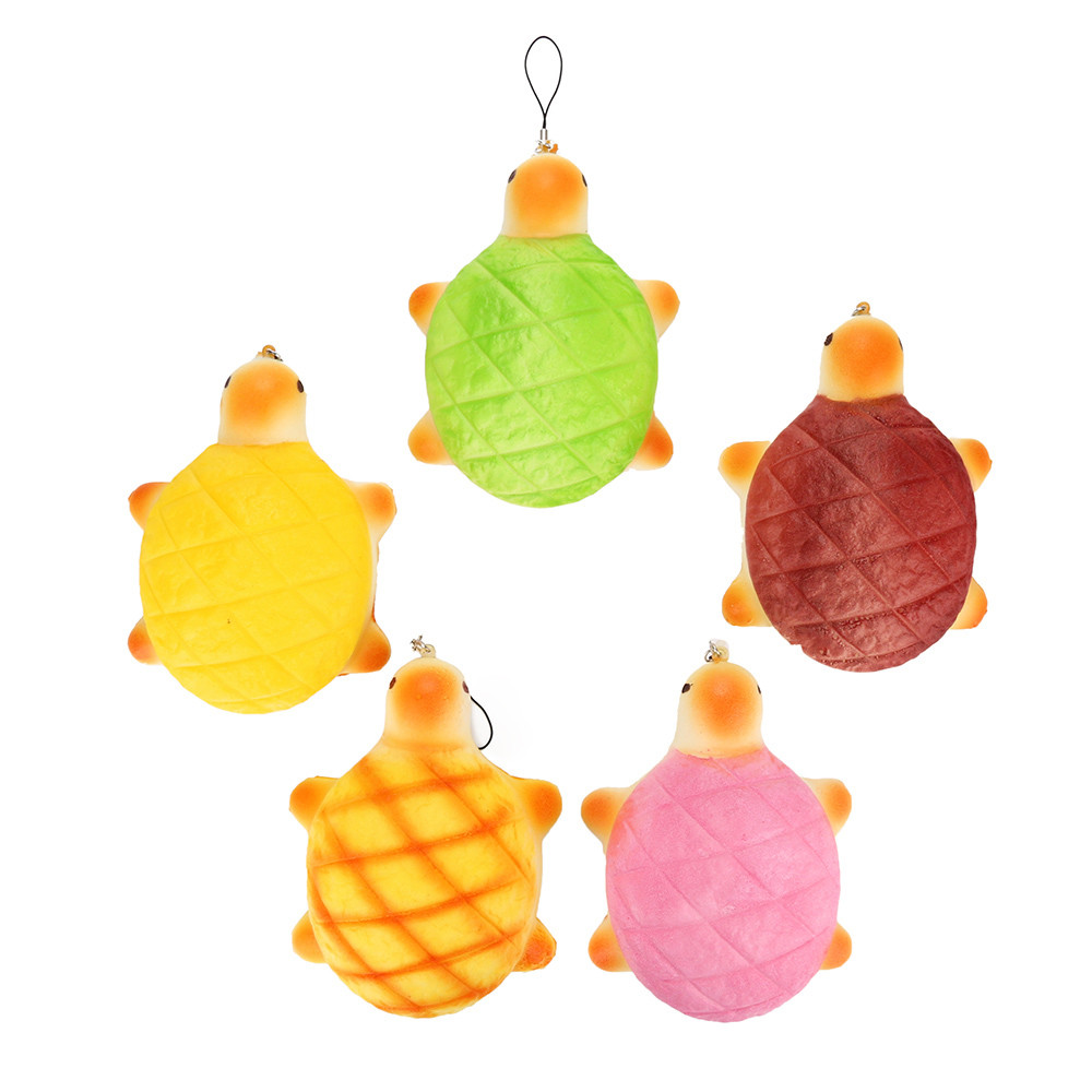 Simulate Smiley Tortoise Scented Charm Squishy Slow Rising Phone Straps Charms Scented Pendant Fun Kid Toy Gift L1223