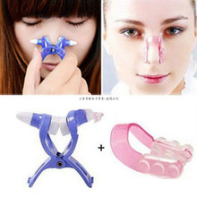 New Fast Send 2 Pcs New Hot Sale Massager Care Nose Up Shaping Shaper Lifting + Bridge Straightening Beauty Clip Nose Slimmer