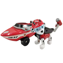 Paw Patrol Dog Sea Car Rescue Puppy Set Toy Patrulla Canina Action Character Chase Marshall Ryder Model Cartoon Child