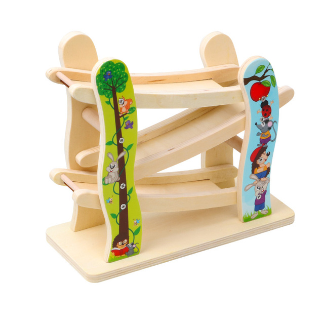 Chiristmas-Gift-Kids-Wooden-Toys-Car-Race-3-Tracks-Toy-Car-Ramp-Race-Track-Toddler-Baby
