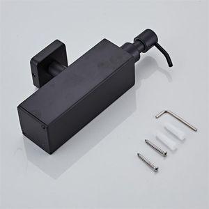 Image 4 - 200ml Wall Mounted Shower Bottle Pump Stainless Steel Shampoo Dispenser Black