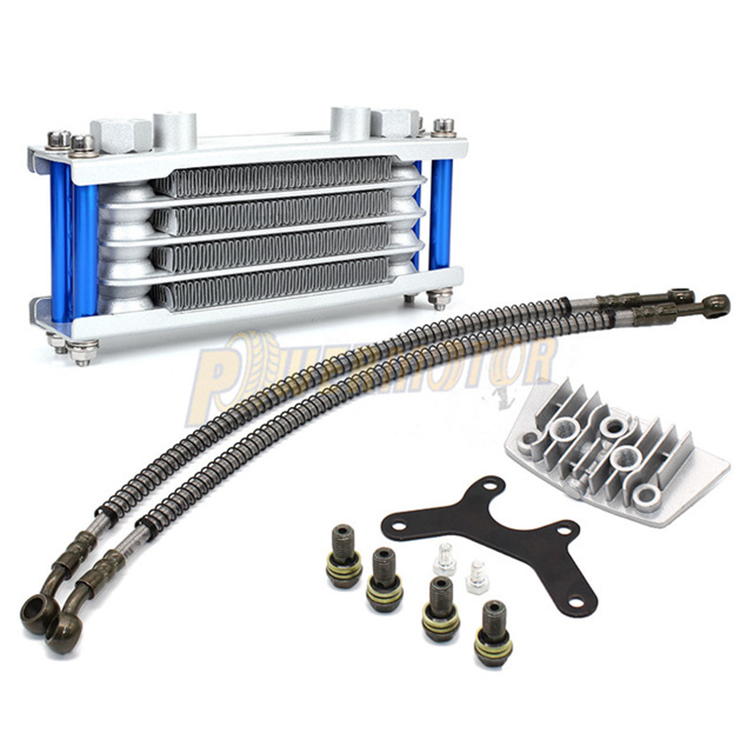 Motorcycle Oil Cooling Cooler Radiator for 50cc 70cc 90cc 110cc Horizontal Engine Chinese Made Dirt Pit Monkey Bike ATV