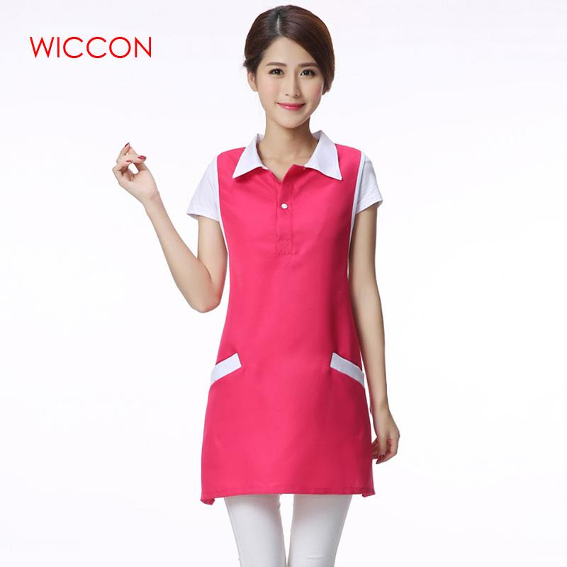 WICCON New Medical Work Clothes Apron Women Solid Korean Version Fashion Sleeveless Skirt Female Medical Work Wear Accessories