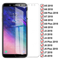 9D Volle Schutz Glas Für Samsung Galaxy A6 A8 Plus A5 A7 A9 2018 Screen Protector J4 J6 Plus J3 j8 2018 J2 J7 Core Glas Film
