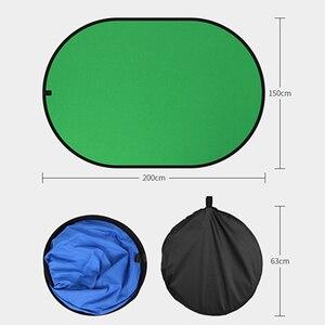 Image 2 - Fotografia portátil refletor chromakey pano de fundo verde azul tela backdrops painel para youtube vídeo studio100x150cm/150x200cm