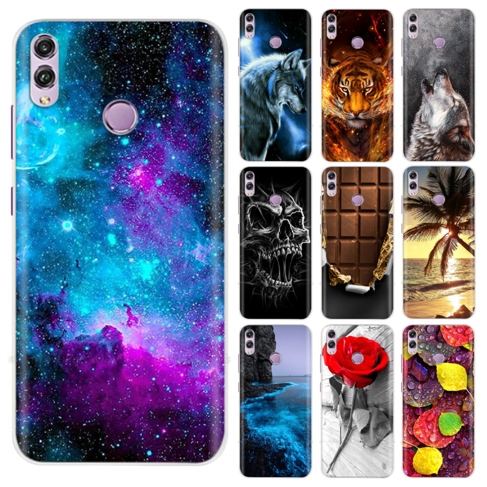 For Honor 8x Case Soft TPU Silicone Back Cover for Huawei Honor 8x 8 X 6.5 inch Protect Phone Shell Cartoon Coque Bags Painting