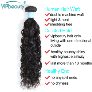 Image 4 - Indian Water Wave Bundles With Lace Closure Human Hair Vip Beauty Hair Weave 3 Bundles With Closure Remy Hair Extension