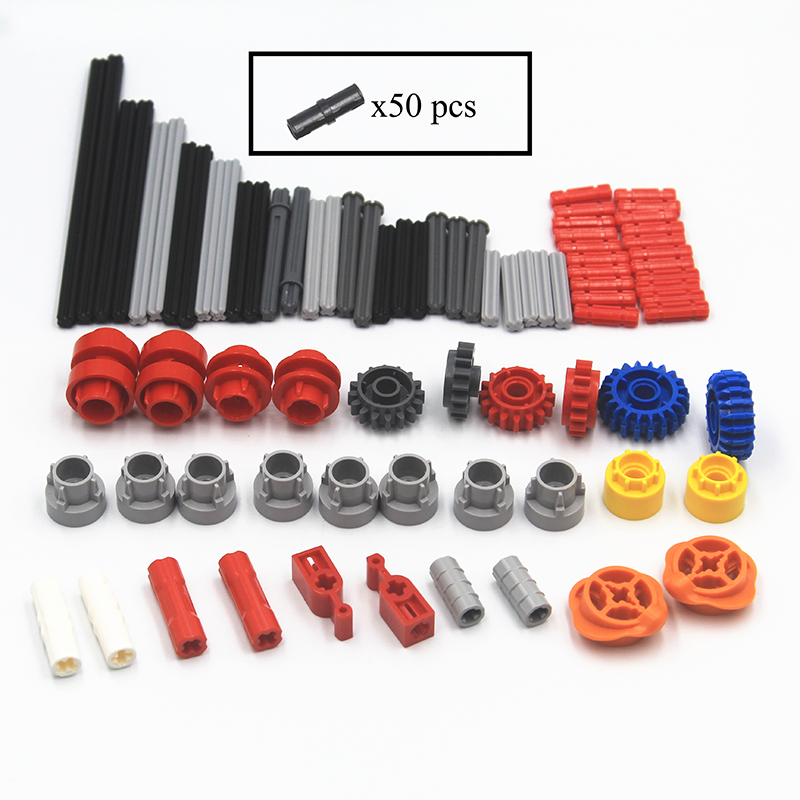 Building Blocks MOC Technic Parts 130pcs Gearbox Accessories Supplement Package Compatible With Lego For Kids Boys Toy