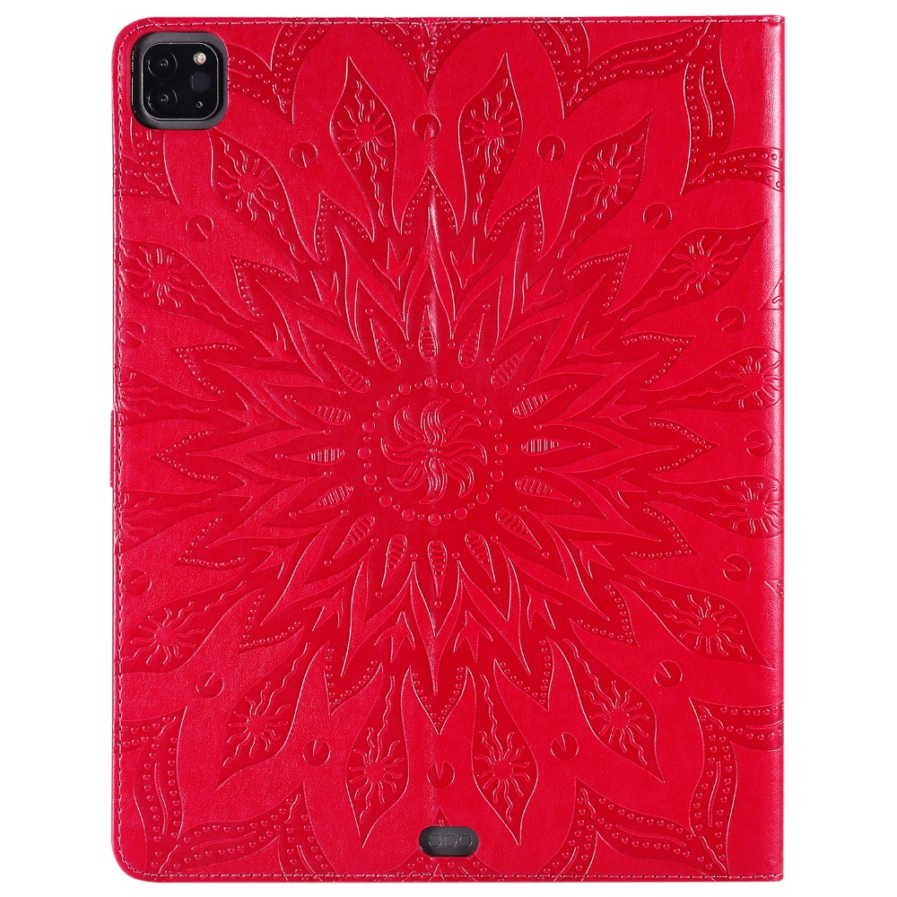 Case Cover Skin Embossed for Leather Shell 9 iPad 2020 Pro 12 3D Flower Protective