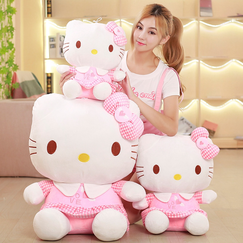 40-70cm Lovely Cats Plush Toys Adorable Dolls Stuffed Soft Cartoon Pillow For Kids Christmas Gifts Girls Valentine's Present