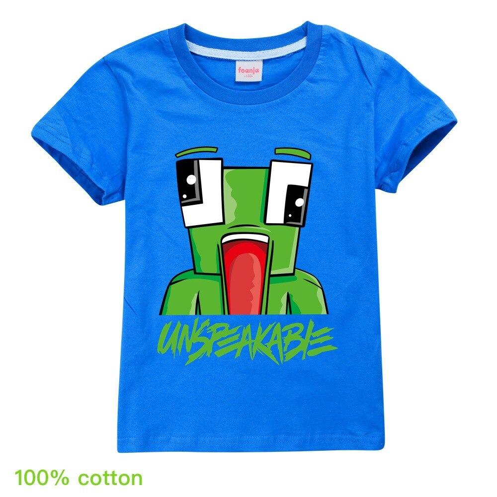 Summer Unspeakable Inspired Youtube Boys T-Shirts Gaming Kids sweatshirt T-Shirt For Girls Tops Tees Children Clothing 6