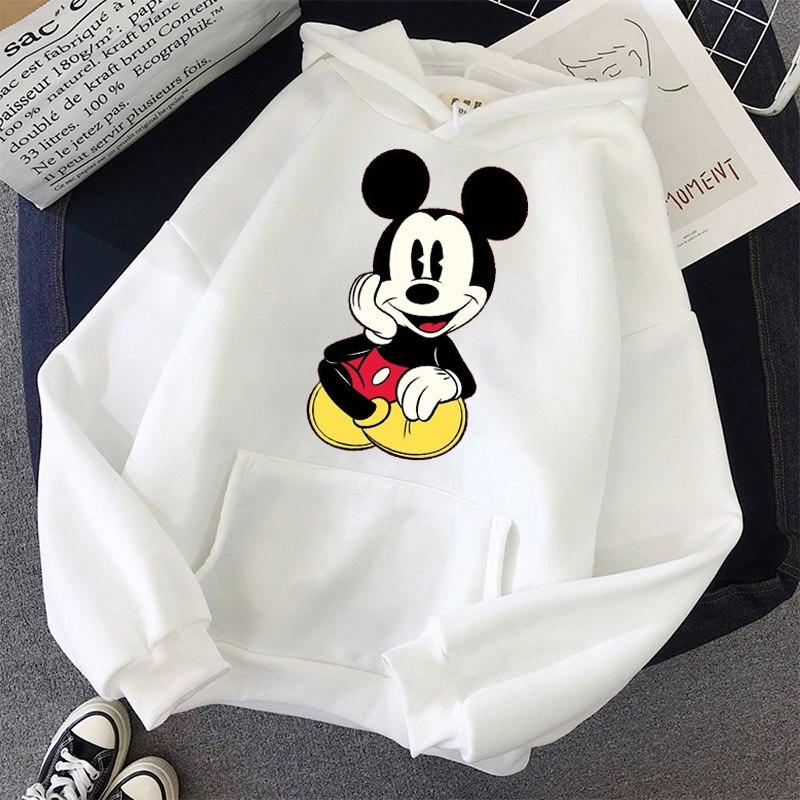 Disney Women Hoodies Minnie Mickey Mouse Hoodies Cartoon Tops Long Sleeve Pockets Sweatshirts Fashion Hooded Women 8