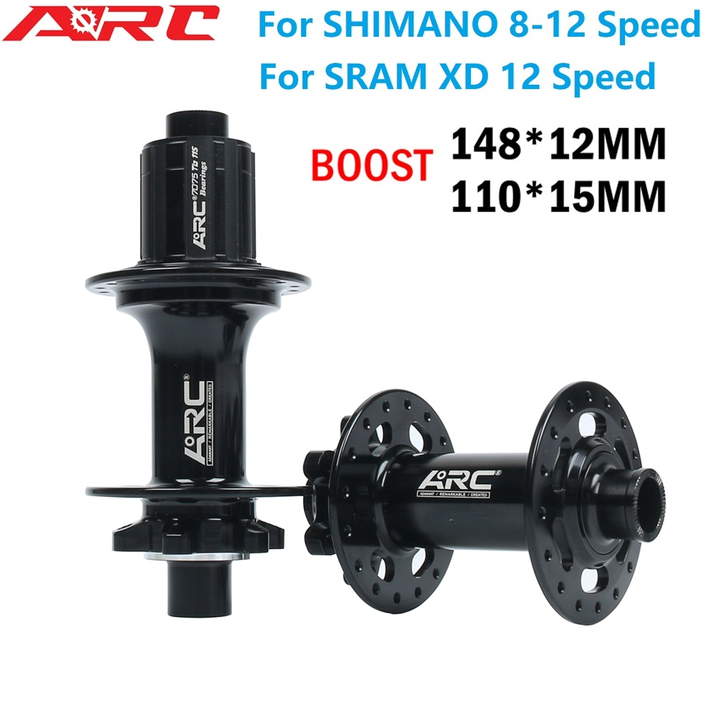 ARC Mountain Bike BOOST Hubs 32H 12 Speed MTB Bicycle MICRO SPLINE Hub 148*12 110*15MM For Shimano DEORE M8100 8-12S SRAM XD 12S image