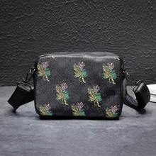 2019 new casual printing shoulder bag Messenger small mobile phone shopping package simple fashion trend Han