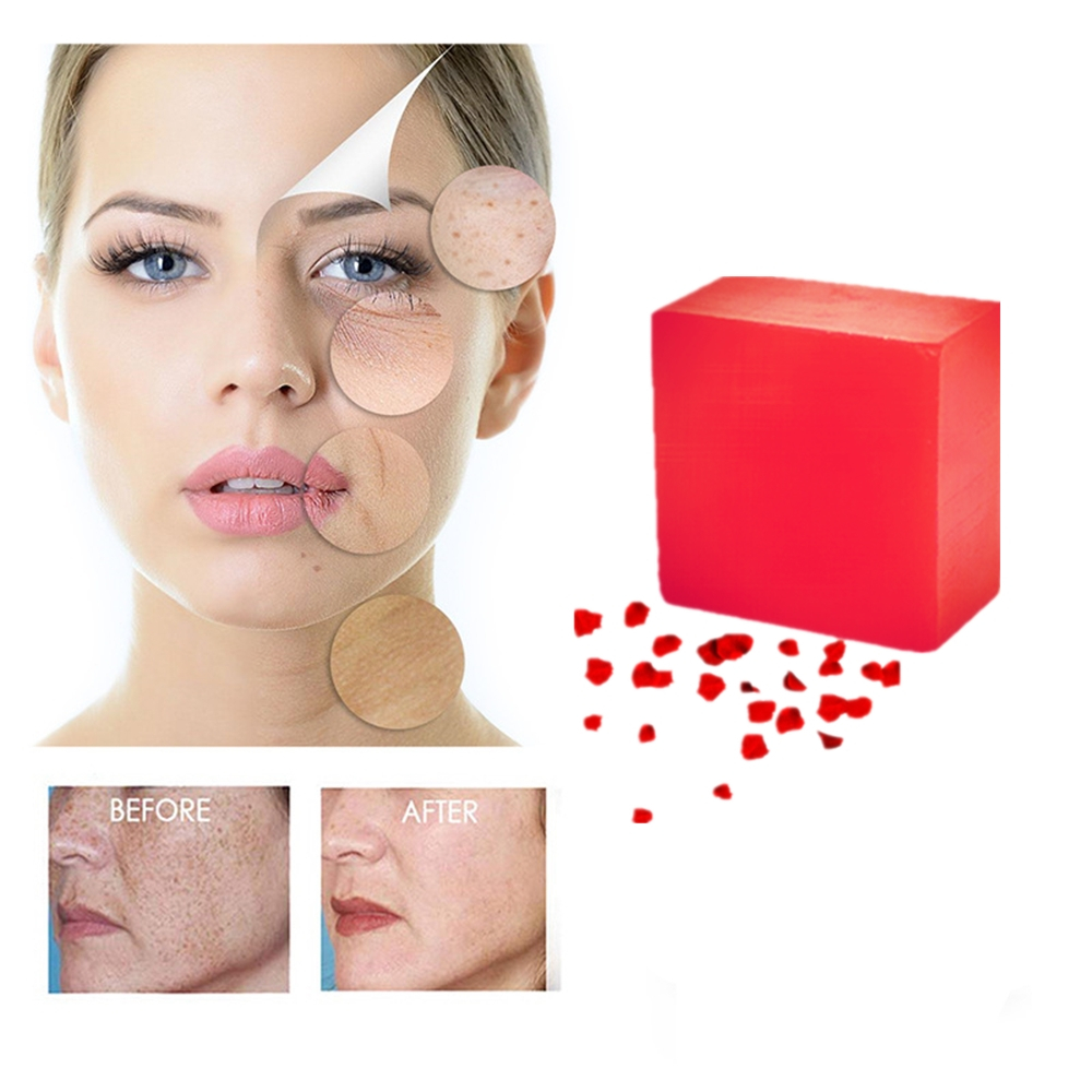 HANCHAN Remove Acne Essence Skin Whitening Pore Contraction Anti Wrinkle Lift Face Scar Repair Rose Essence Handmade Soaps 100g