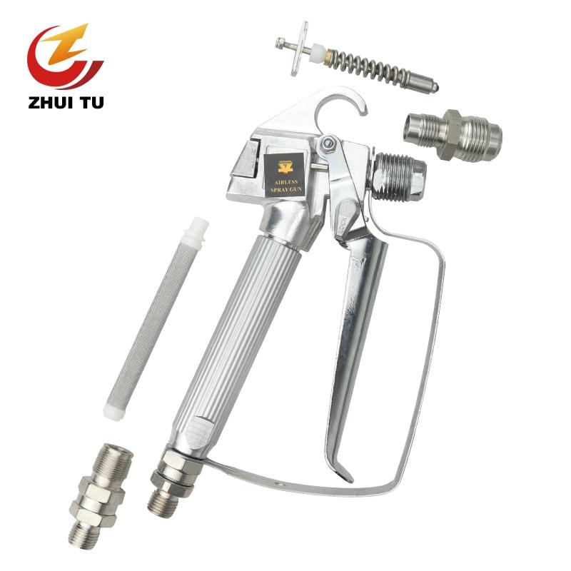 3600PSI Airless Sprayer Gun Repair Parts Latex Paint Gun Needle Valve Seat Spray Gun Filter Joint Nozzle