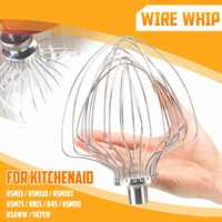 6/11-Whisk Ovo-Batedor de Creme Whipper Chicote De Fio Para K5AWW Stand Mixer KSM15, KSM110, KSM103, KSM75, KN15, K45, KSM90/K5AWW/5K7EW