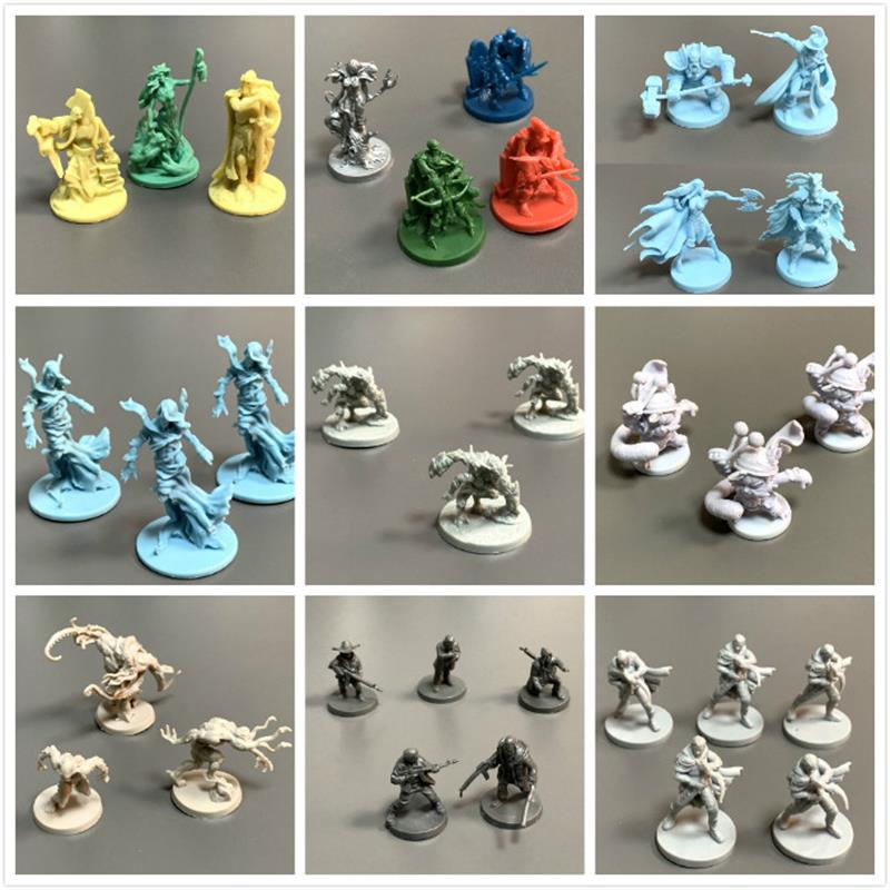 New  D & D Dungeons Board Games Miniatures Zombie Model Underground City Series Wars Game Figures Toys Collection