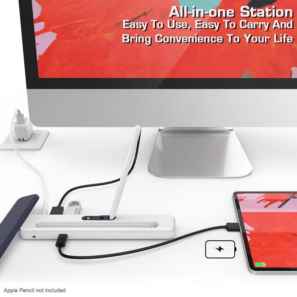 USB C Hub A To HDMI USB 3.0 RJ45 PD Charging USB HUB For Samsung S8 S9 Huawei P2 Pencil Case For IPad Tablet Touch Pen