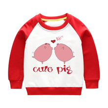 Girls Hoodies Children Sweatshirt Boys Kids Fashion Clothing Cotton Spring Print Pigs Autumn Tops Clothes Clothing