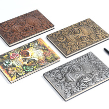 3D Vintage Embossed Pattern Leather Notebook Agenda 2020 Diary Notebook Gift Bible Book Handcraft A5 Kids Gift Travel Journal цены онлайн