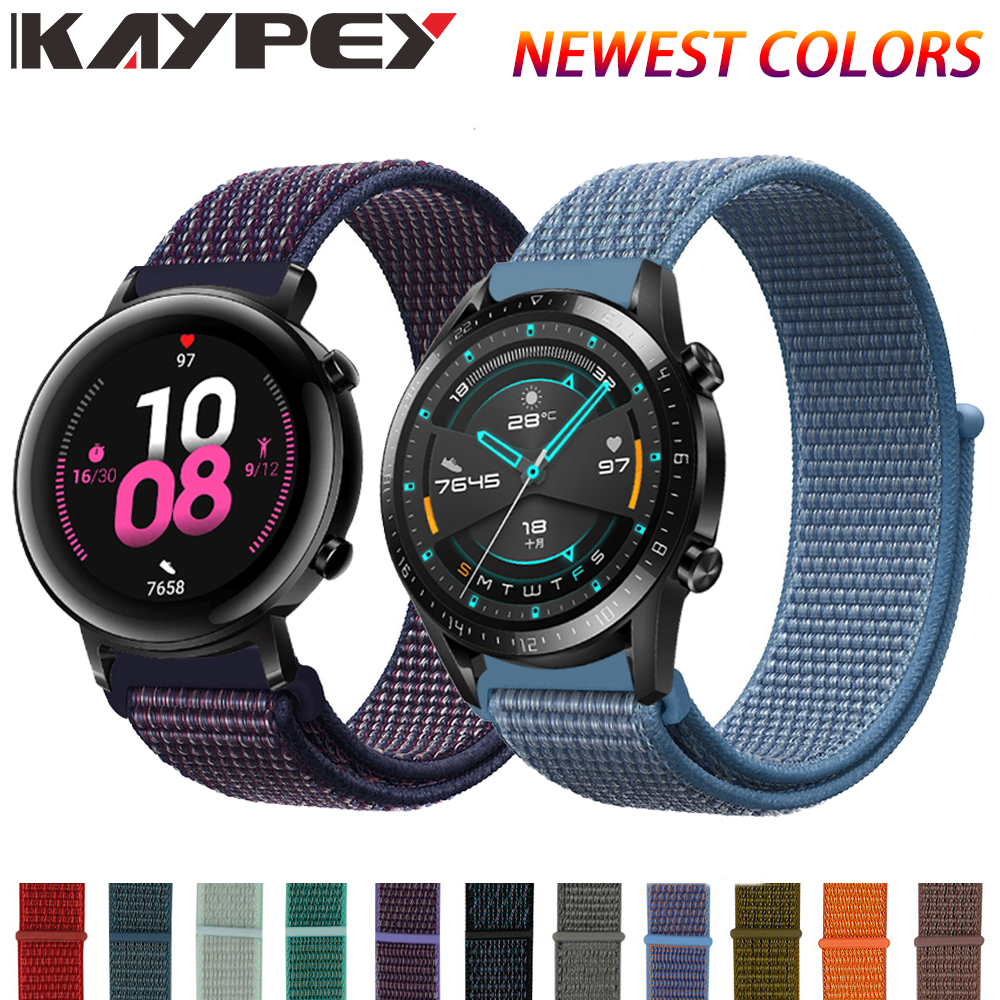 Nylon Band For Huawei GT2 42MM 46MM Strap Wrist Nylon Loop Velcro Strap For Huawei Gt/gt 2 2e Smart Watch Accessories