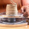 11/16 см двусторонний поворотный стол из алюминиевого сплава для керамической скульптурной платформы, керамическое колесо, вращающиеся инст...