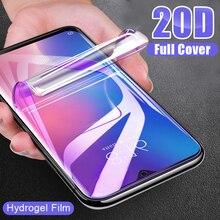 Película suave de hidrogel de cobertura completa 20D para Xiaomi Mi 9 SE 8 Pro A3 Lite A2 A1 CC9 CC9E Pocophone F1, Protector de pantalla no de vidrio