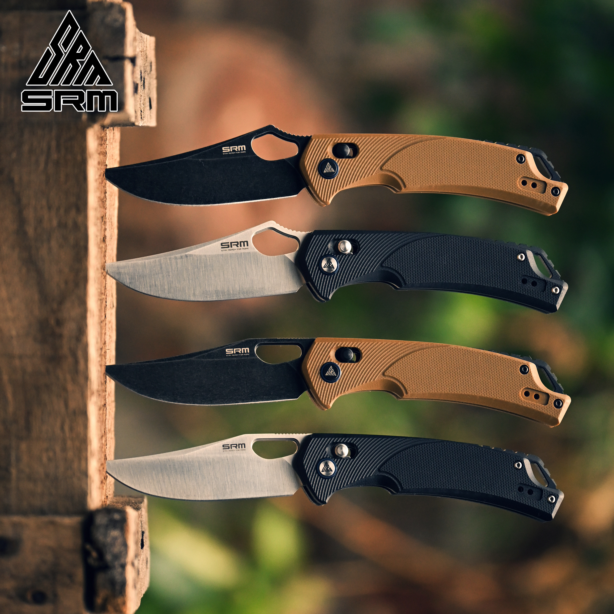 Hunting Pocket Knives D2 SRM Blade 9202 Axis EDC Outdoor 9201 NEW System Camping SANRENMU Knife Tool Tactical Folding Survival