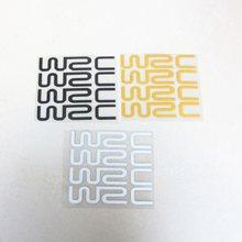 4 unids/set del Mundo de Cross Rally WRC pegatinas de coche modificadas personalidad pegatinas reflectantes de la manija de la puerta de la muñeca