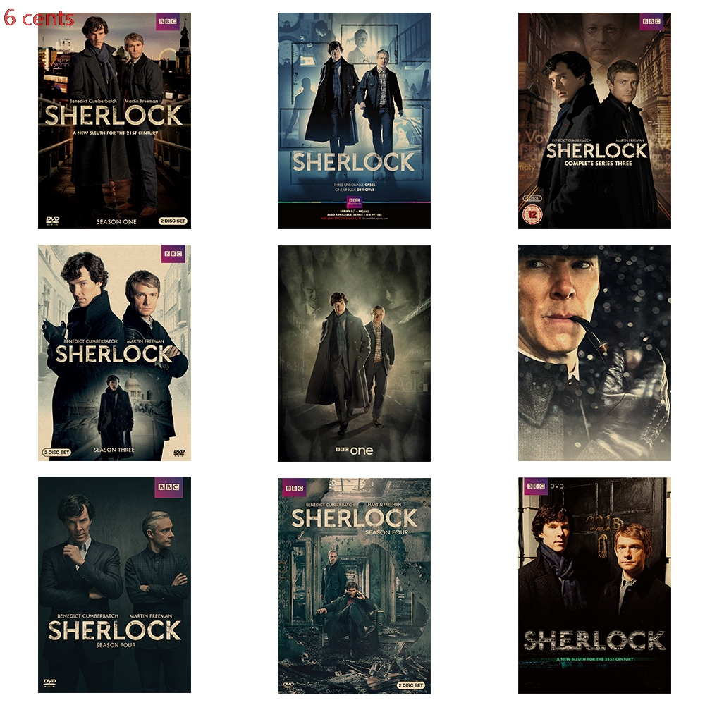 Classic TV series poster Sherlock poster retro poster kraft paper poster wall sticker decorative painting movie poster