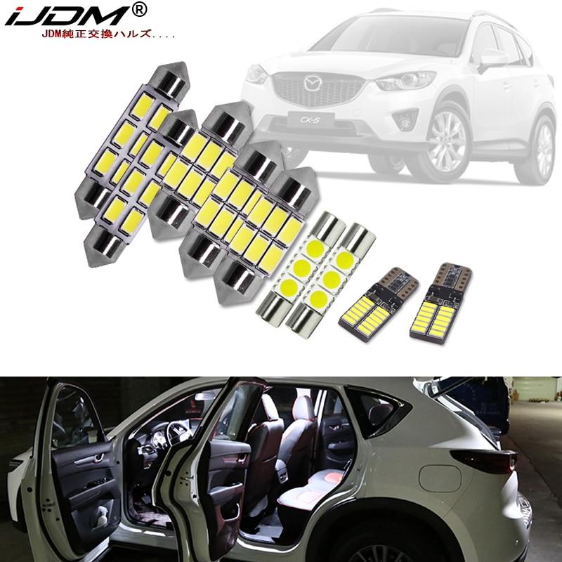 IJDM White Canbus Led Car Interior Lights Package Kit For 2013 2014 2015 2016 2017 2018 2019 Mazda CX-5 CX5 Led Interior Lights
