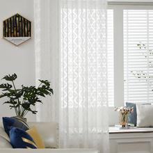 White Sheer Curtains Window Screening Gauze  Customize Panel Drap Curtains for Living Room Furniture Cover Eyelet Home Decor D30 princess style 100% cotton curtains elegant white lace curtains sheer tulles for girl s room window door sheet screen home decor