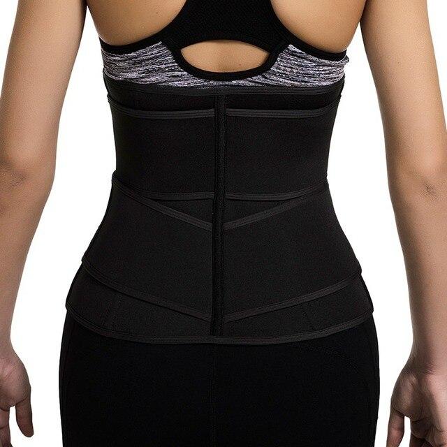 Women Weight Loss Lumbar Shaper Workout Trimmer Belt Steel Boned Waist Corset Trainer Sauna Sweat Sport Girdle Cintas Modeladora 2