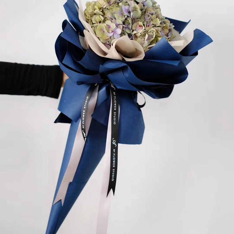 60cm * 10 jardas/rolo engrossar a flor nova importada da cor sólida que envolve o material de empacotamento floral do papel de embalagem
