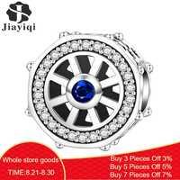 Jiayiqi 2019 Mode Schmuck 925 Sterling Silber Charms Fit Charm Armband Halskette Für Frauen DIY Zubehör