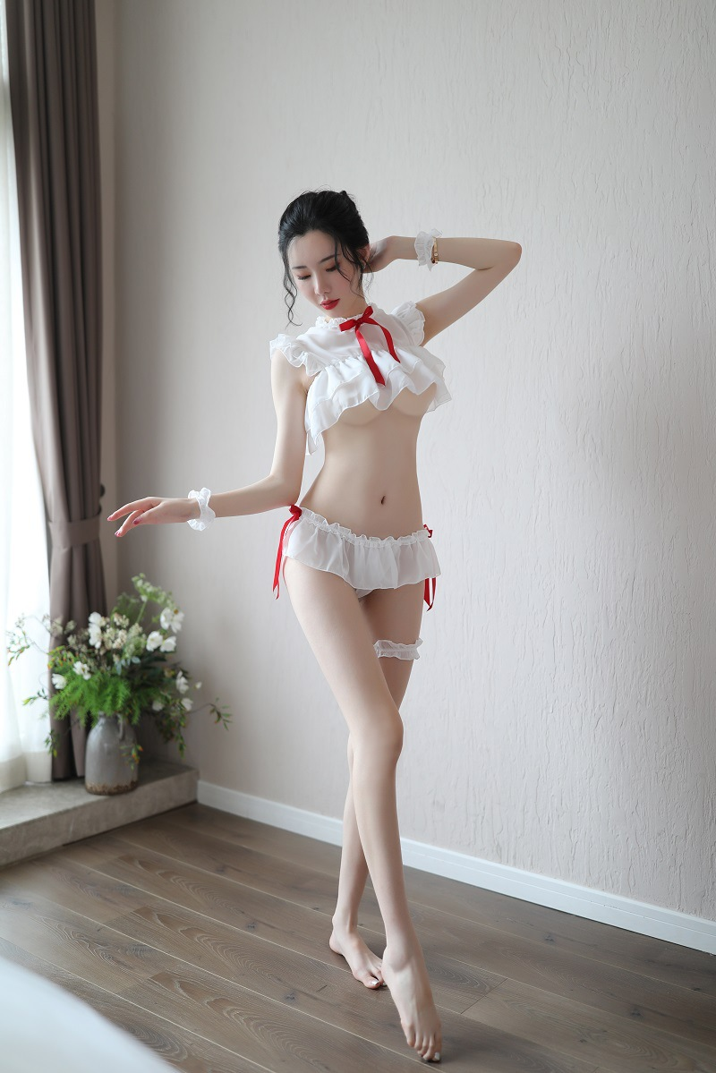 NEW Arrived 2019 Women Sexy Lingerie Princess Uniforms Set Cute White Maid Sexy Miniskirt Cosplay Costumes