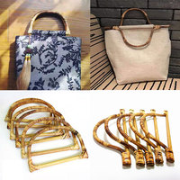Colgador en forma de D de bambú, Asa de madera para bolso hecho a mano, bolso de mano, bolso de mano, fabricación de Marcos, colgador de bolsas, piezas para mochilas, accesorios, 1 ud.